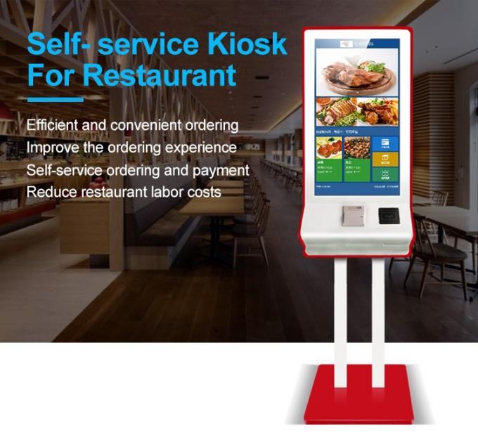 "32 "" Scan QR Code Self Service Kiosk Machine Resolution 1920 * 1080 With 1 Year Warranty"