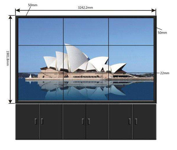 4X4 HD Digital 46 LCD Video Wall Display Multi Touch High