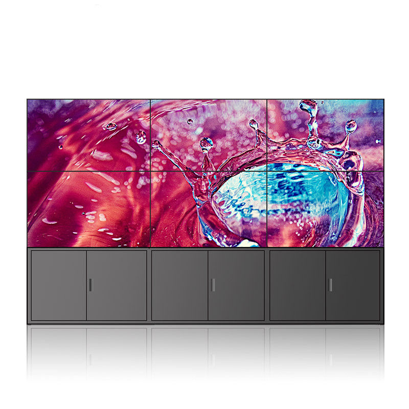 Seamless LCD Touch Screen Video Wall 46 Inch 500 Nits 3.9mm Indoor With Software