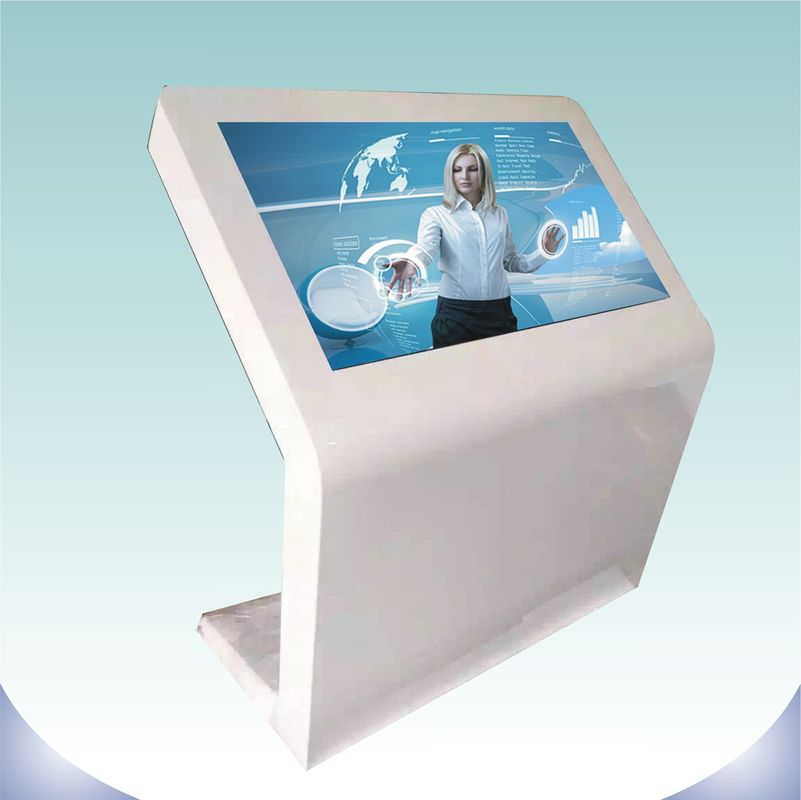 Large Screen Touch Screen Digital Signage Landscape Standing Black Color For Indoor
