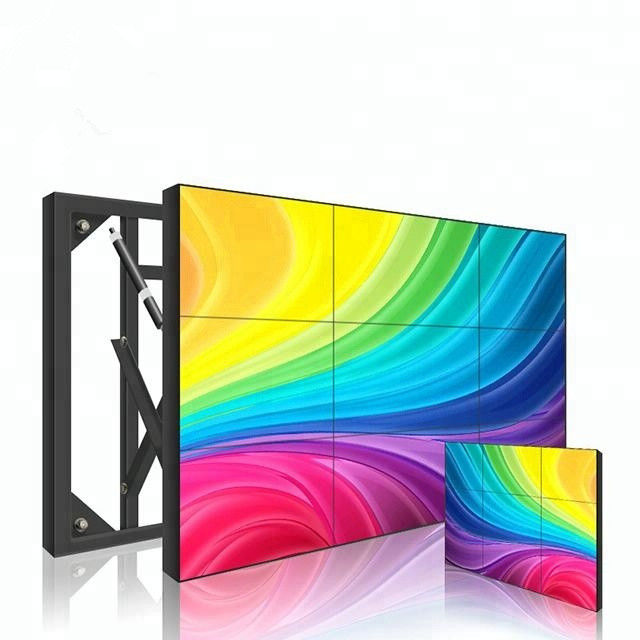 Smart TV Flexible Lcd Video Wall Display 55 Inch Ultra Narrow Bezel 1.8mm HD 4K