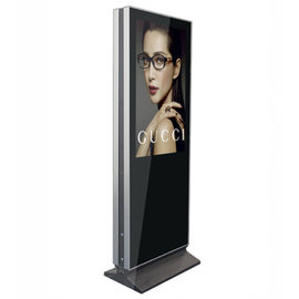 Indoor Lcd Advertising Digital Signage Kiosk 43 Inch Ultra Slim Double Sided Display