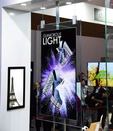 Fantasy Glass Frame wifi black ultra thin 43 55 inch 2cm thickness dual sided 4K  colorQLED high brighness  Digital Sign