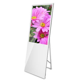 "Floor Stand LCD Advertising Display Digital Poster 42 43"" For Retail Stores"