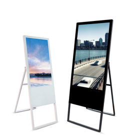 43 inch portable kiosk, foldable kiosk, digital lcd poster display
